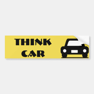 Think Car Funky Sticker