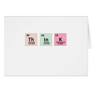 Think - Chemistry Card