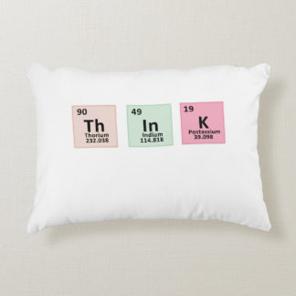 Think - Chemistry Decorative Pillow