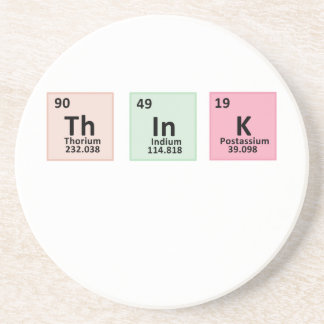 Think - Chemistry Drink Coaster