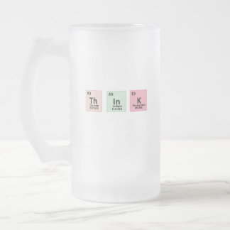 Think - Chemistry Frosted Glass Beer Mug