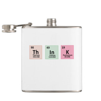 Think - Chemistry Hip Flask