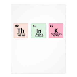 Think - Chemistry Personalized Letterhead