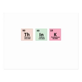 Think - Chemistry Postcard