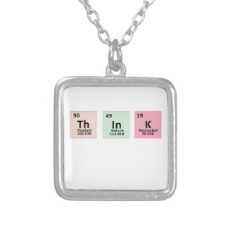 Think - Chemistry Silver Plated Necklace