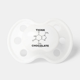 Think Chocolate (Theobromine Molecule Chemistry) Pacifiers
