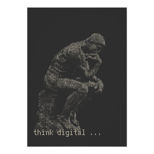 think digital poster