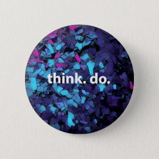 Think Do electric Blue mosaic button