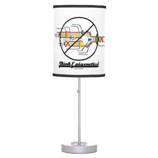 Think Epigenetics DNA Replication Genetics Humour Table Lamp