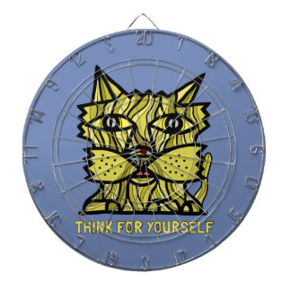 """""""Think For Yourself"""" Metal Cage Dartboard"""