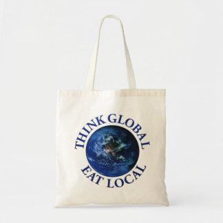 Think Global Eat Local Tote Bag