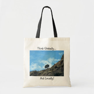 'Think Globally, Act Locally!' Organic Tote