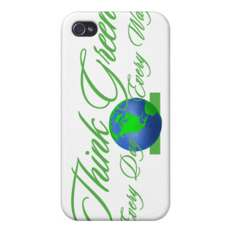 Think Green 3  Fitted™ Hard Shellfor iPhone 4/4S Case For iPhone 4