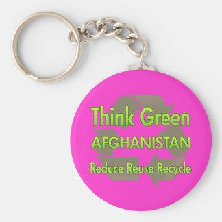 Think Green Afghanistan Keychain