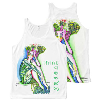 Think Green All-Over-Print Tank Top