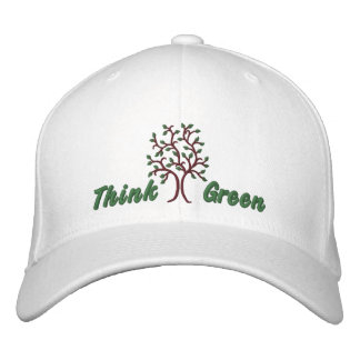 Think Green ~ Ballcap Embroidered Hat