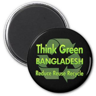 Think Green Bangladesh 2 Inch Round Magnet