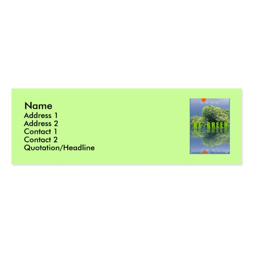 THINK GREEN / BE GREEN BUSINESS CARD