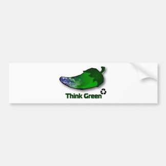 Think Green Bumper Sticker