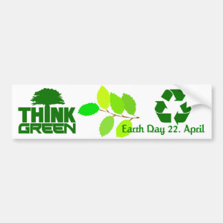Think Green bumpersticker Bumper Sticker