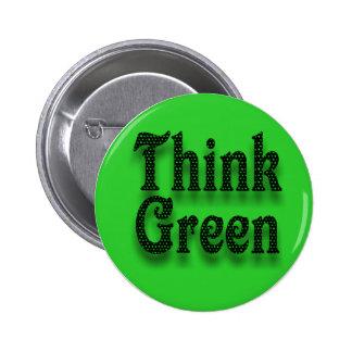 Think Green -Button 2 Inch Round Button