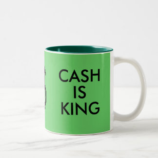 THINK GREEN/CASH IS KING mug