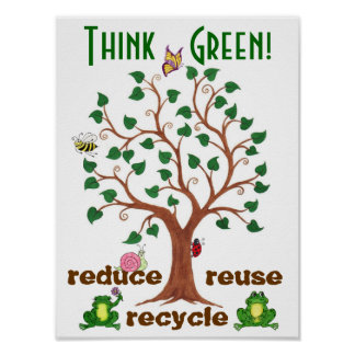 Think Green Critters - Customizable Poster