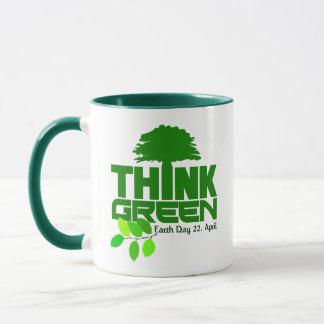 Think Green custom monogram mugs