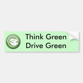 Think Green Drive Green Bumper Sticker