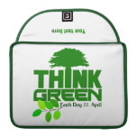THINK GREEN (Earth Day) MacBook sleeve