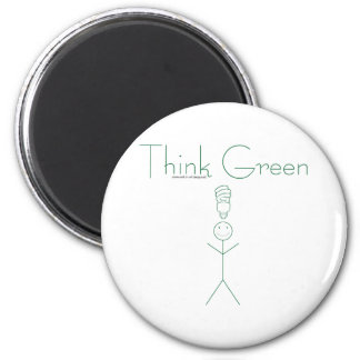 Think green: Eco-friendly stick person t-shirts Refrigerator Magnet