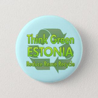 Think Green Estonia 2 Inch Round Button