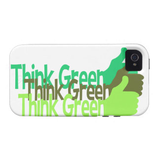 Think Green iPhone 4 Case-Mate Case For The iPhone 4