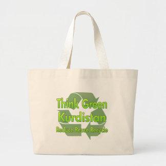 Think Green Kurdistan Large Tote Bag
