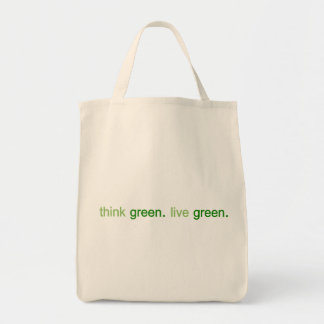 Think Green Live Green Grocery Tote Bag