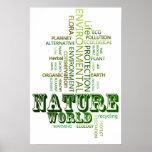 Think Green Nature environmental  poster