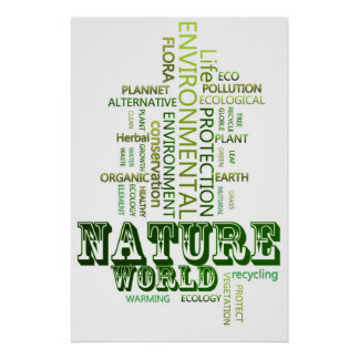 Think Green Nature environmental  poster