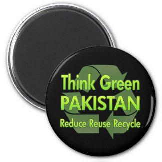 Think Green Pakistan 2 Inch Round Magnet