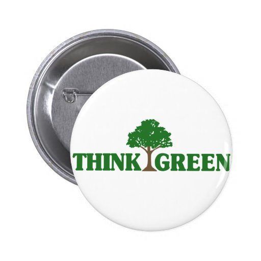 Think Green Pinback Buttons