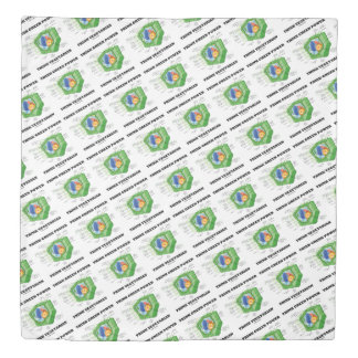 Think Green Power Think Vegetarian Plant Cell Duvet Cover
