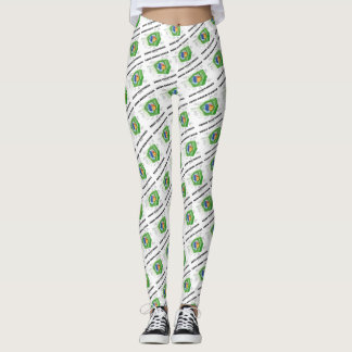 Think Green Power Think Vegetarian Plant Cell Leggings