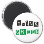 Think Green Products & Designs! Magnet