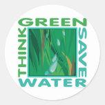 Think Green, Save Water Sticker