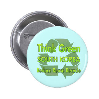 Think Green South Korea 2 Inch Round Button