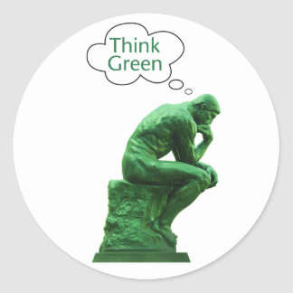 Think Green Thinker Sticker