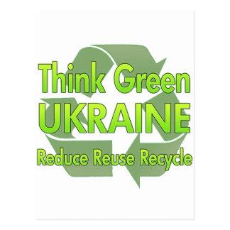 Think Green Ukraine Postcard