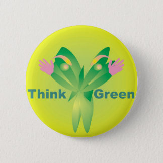 Think Green - Zen Recycle products 2 Inch Round Button