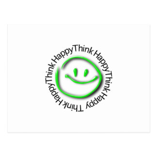 Think Happy (green neon edition) Postcard