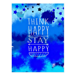 Think Happy Thoughts Collectible Gifts Postcard