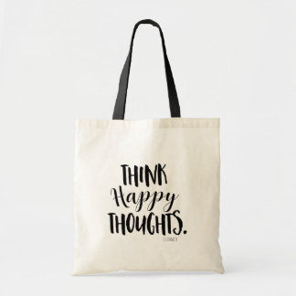 THINK HAPPY THOUGHTS Personalized Custom Tote Bag